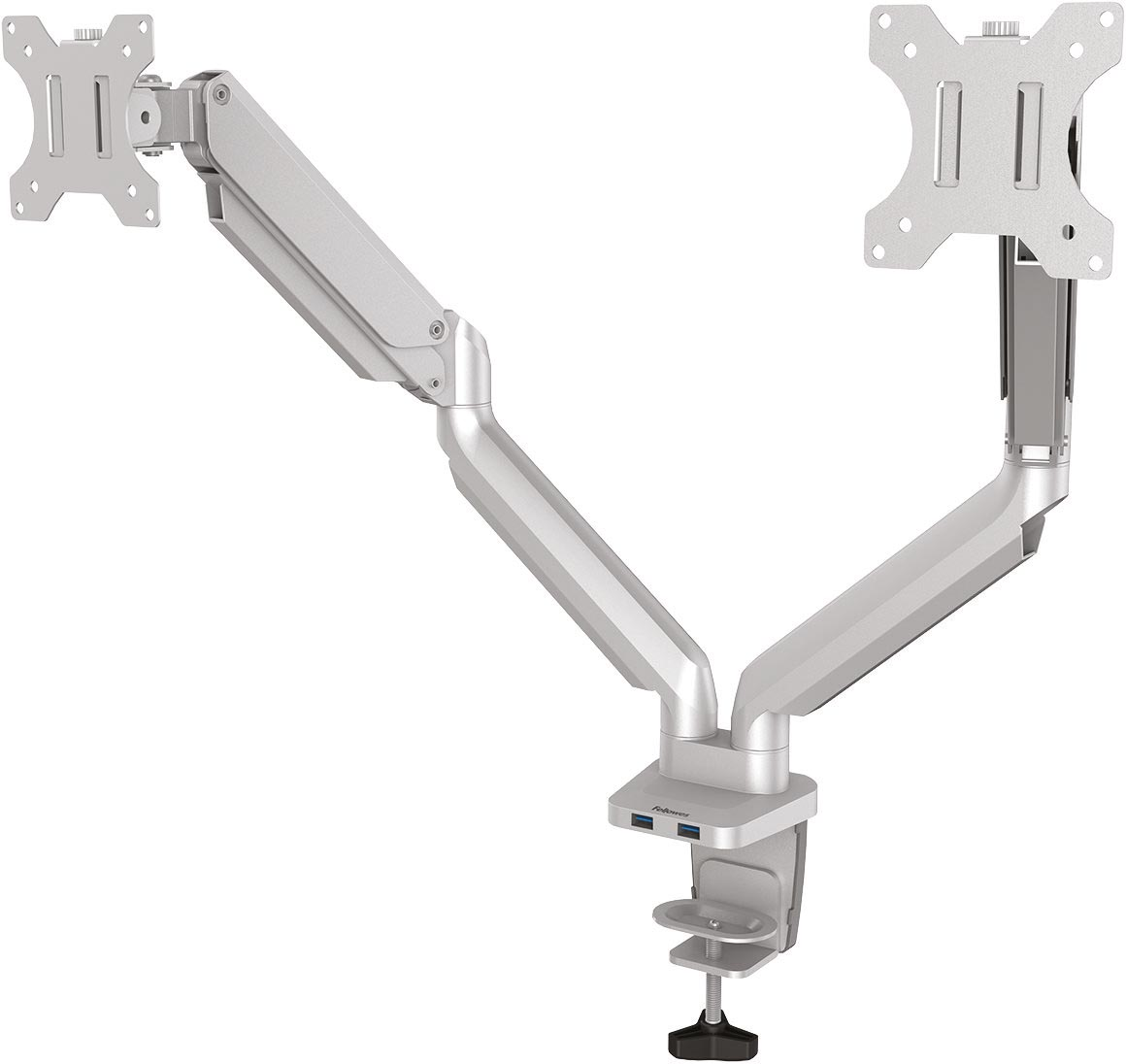 Fellowes Platinum Series monitorarm dubbel, horizontaal, zilver