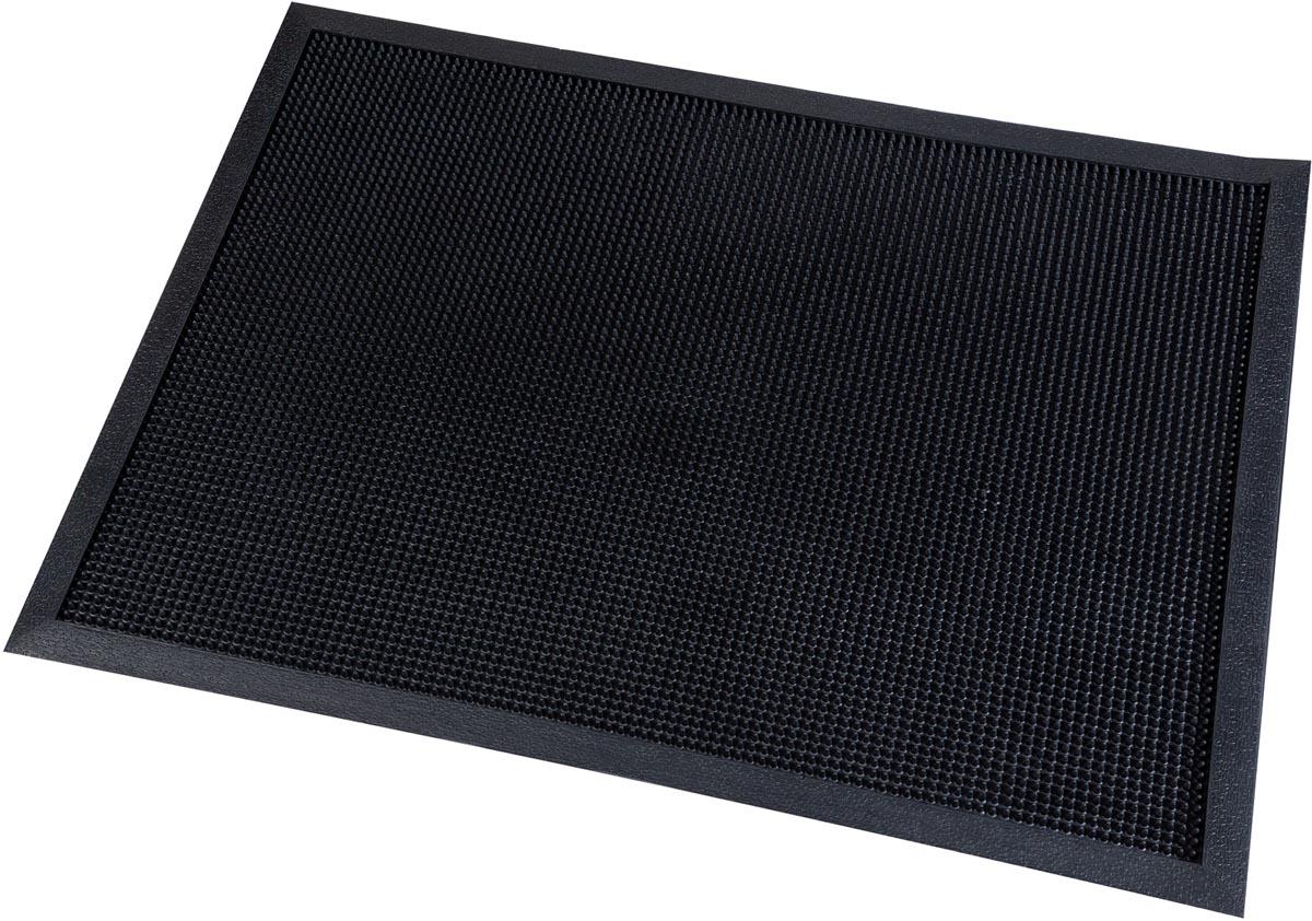 Vloermat Picot, voor harde ondergronden, ft 80 x 100 cm, zwart, pak van 6 stuks