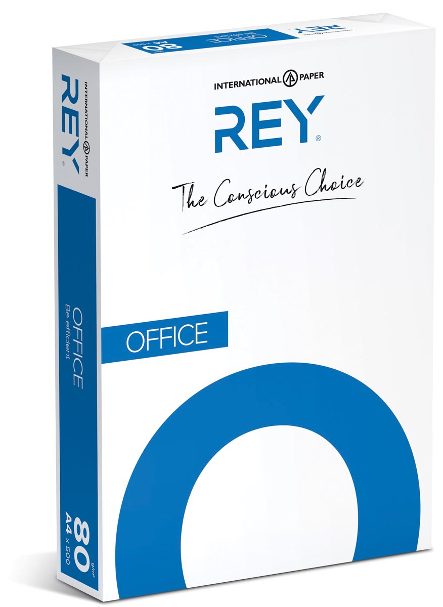 Rey Office Document printpapier met 4 perforaties ft A4, 80 g, pak van 500 vel