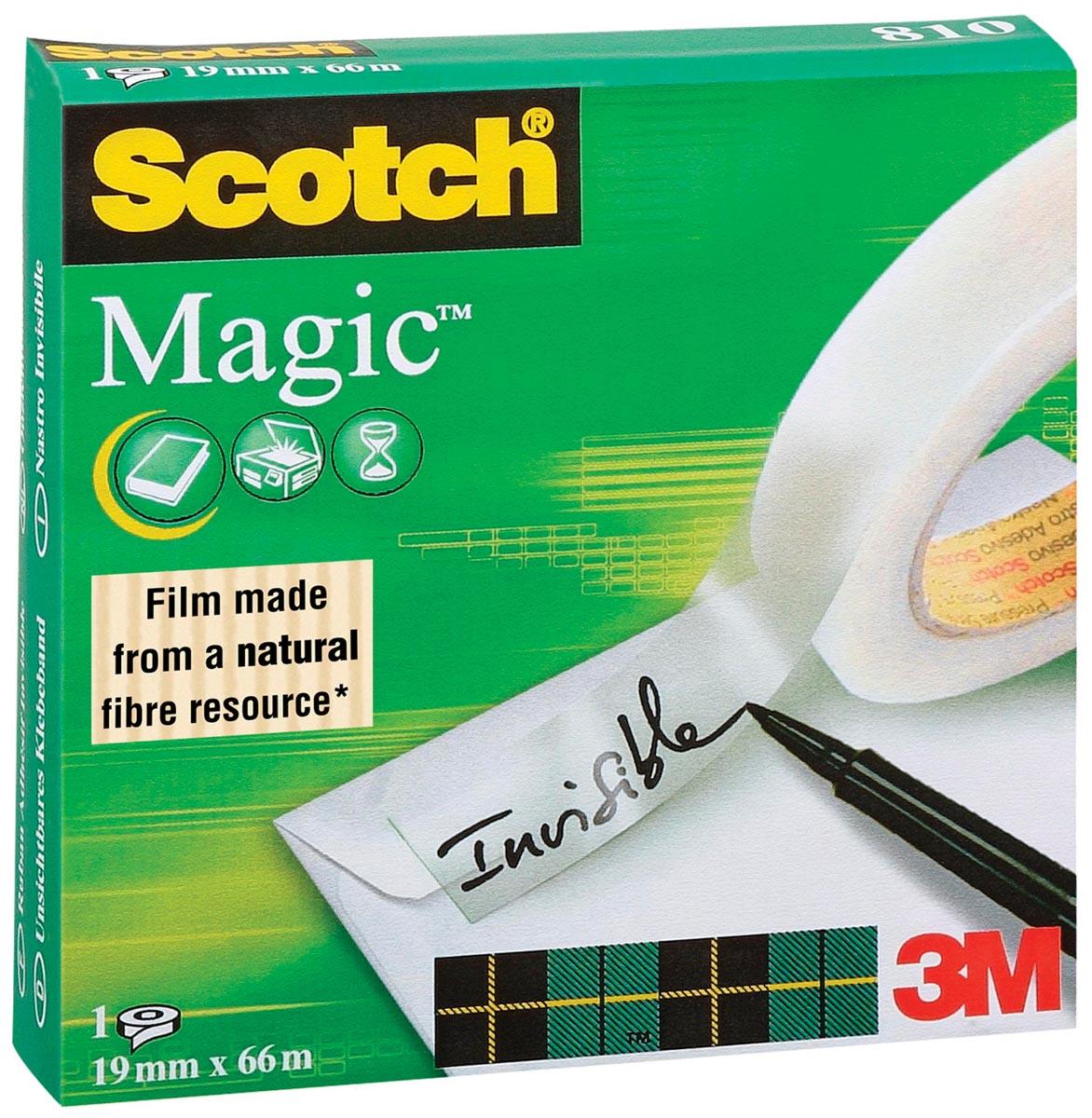 Scotch plakband Magic Tape ft 19 mm x 66 m