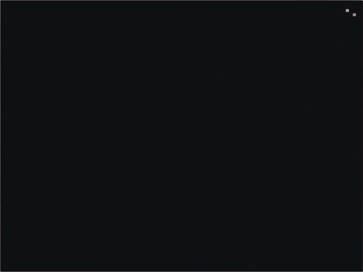 Naga magnetisch glasbord 90 x 120, zwart