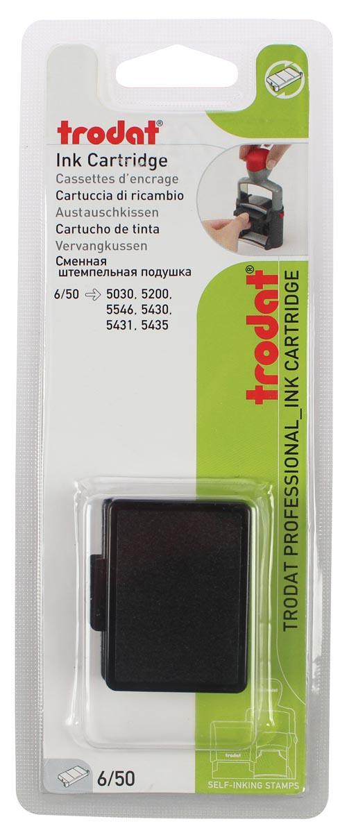 Trodat vervangkussen zwart, voor stempel 5430/5430L, blister met 2 stuks