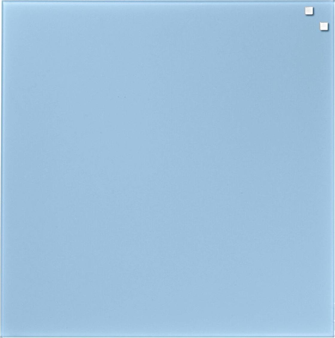 Naga magnetisch glasbord ft 45 x 45, lichtblauw