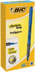Bic markeerstift Highlighter Grip blauw, doos met 12 stuks
