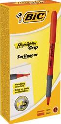 Bic markeerstift Highlighter Grip oranje, doos van 12 stuks