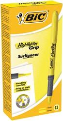Bic markeerstift Highlighter Grip, geel, doos van 12 stuks