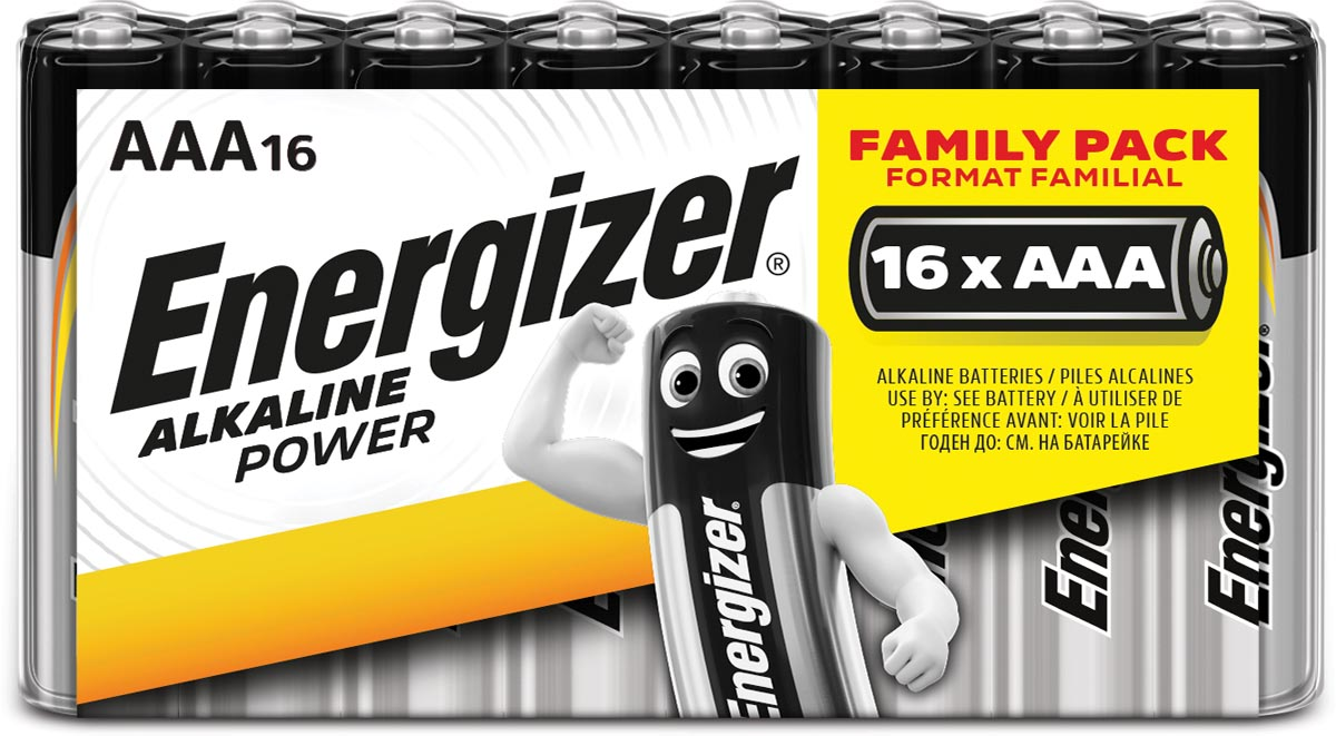 Energizer 628123 Battery Alkaline Aaa-lr03 1.5 V Classic 16-pack