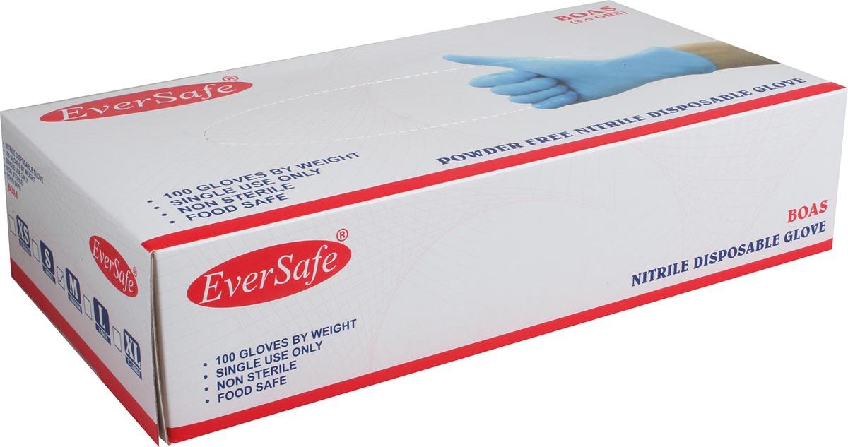 Handschoenen uit nitril, medium, blauw, doos van 100 stuks