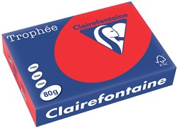 Clairefontaine Trophée Intens A4 koraalrood, 80 g, 500 vel
