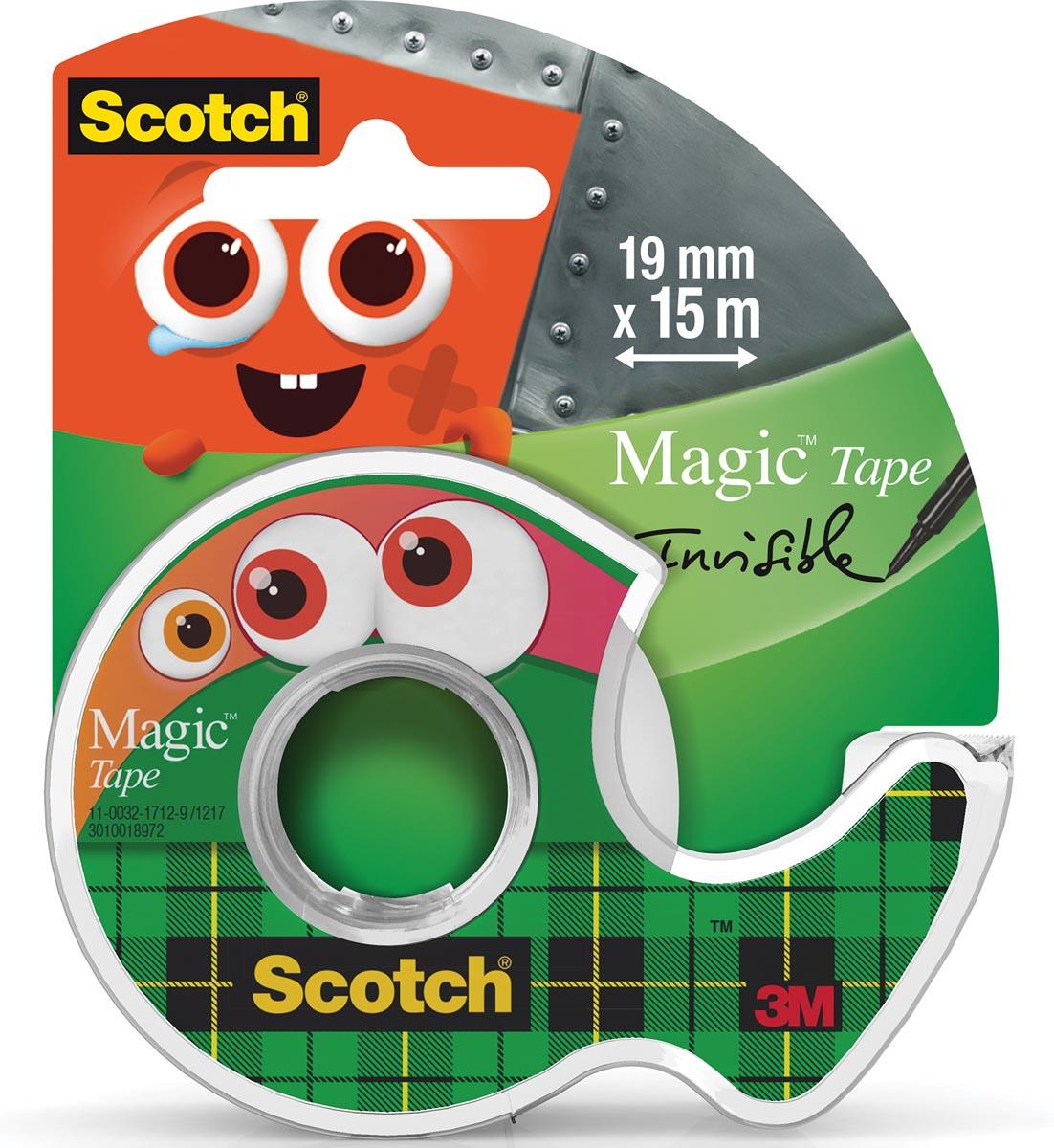 Scotch plakband Magic Monster Tape, ft 19 mm x 15 m, 2 clipstrips met 12 blisters per strip