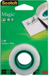 Scotch plakband Magic  Tape ft 19 mm x 25 m, blister met 1 rolletje