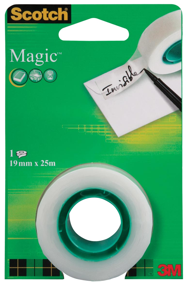 Scotch plakband Magic Tape ft 19 mm x 25 m, blister met 1 rolletje