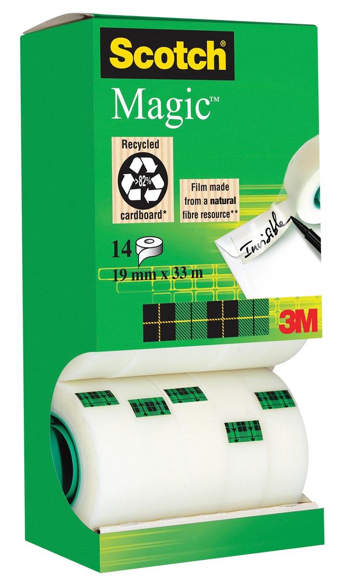 Scotch plakband Scotch Magic Tape, value pack 12 + 2 rollen gratis