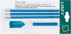 Linex schoolset potloden, blauw