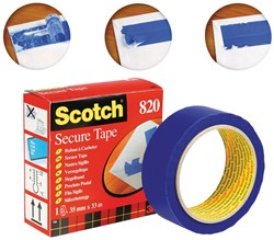 Scotch plakband Secure Tape blauw