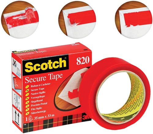 Scotch plakband Secure Tape rood