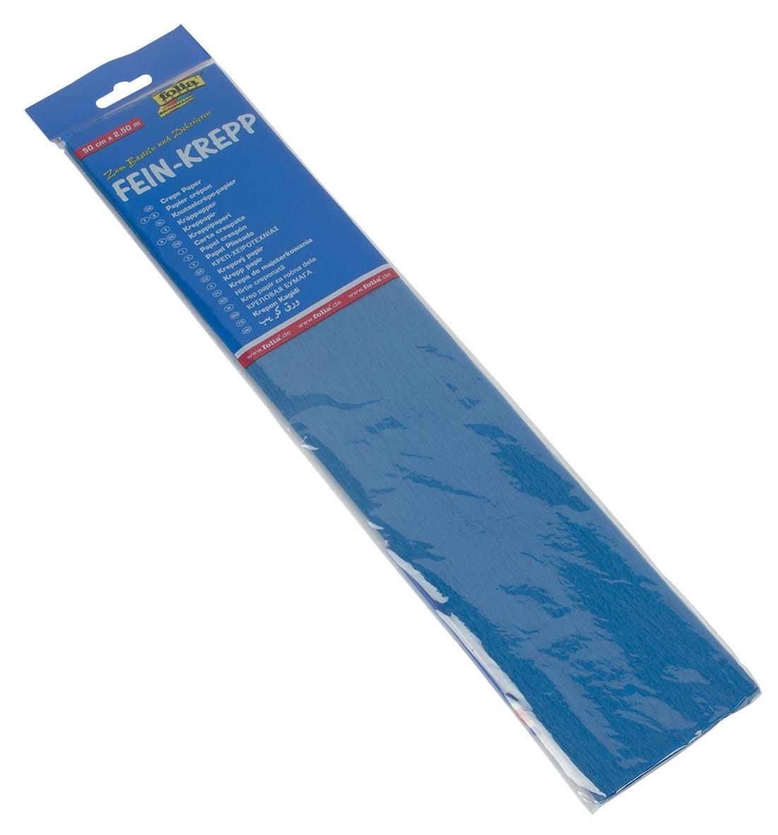 Folia crêpepapier helblauw