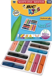 Bic Kids waskrijt Plastidecor Triangle 144 stuks (classpack)
