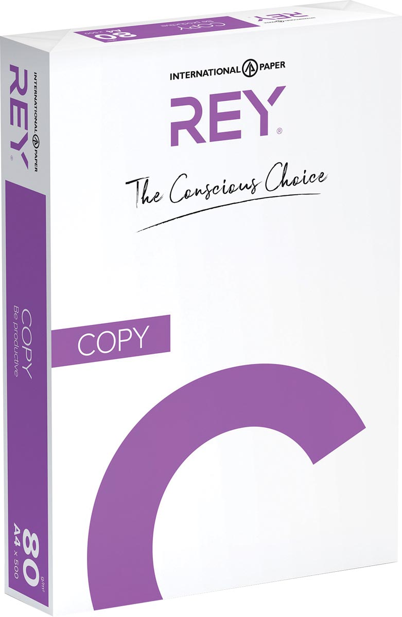 Rey Copy printpapier ft A4, 80 g, pak van 500 vel