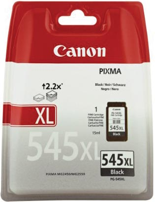 Canon inktcartridge PG545XL, 400 pagina's, OEM 8286B001, zwart