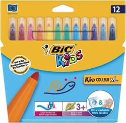 Bic Kids Kid Couleur XL viltstiften, etui met 12 stuks