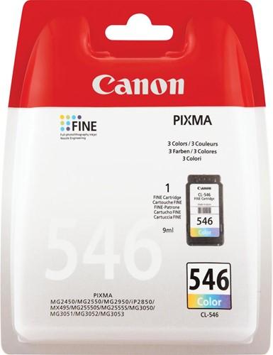 Canon inktcartridge CL-546, 180 pagina's, OEM 8289B001, 3 kleuren
