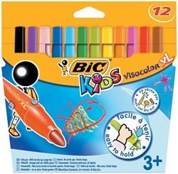 Bic Kids viltstift Visacolor XL, ophangdoosje met 12 stiften