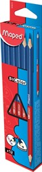 Maped tweekleurig correctiepotlood blauw/rood, doos met 12 stuks