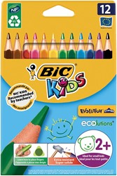 Bic kleurpotlood Ecolutions Evolution Triangle 12 potloden in een kartonnen etui