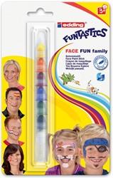 edding Funtastics Face Fun Family 47 schminkstift met 7 geassorteerde kleuren, op blister