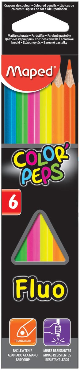 Maped driehoekig kleurpotlood Color'Peps Fluo