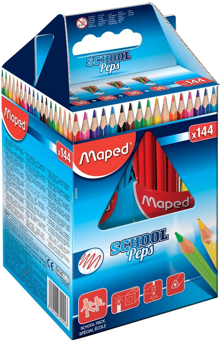 Maped kleurpotlood Color'Peps, 144 potloden (classpack)