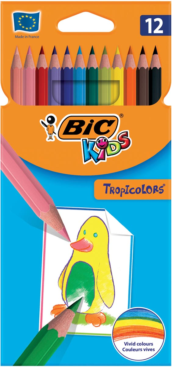 Bic Kids kleurpotlood Tropicolors, etui van 12 stuks