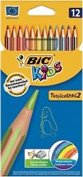 Bic Kids kleurpotlood Tropicolors 2, etui met 12 stuks