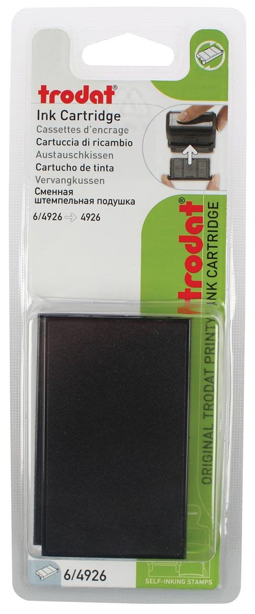 Trodat vervangkussen zwart, voor stempel 4926, blister met 2 stuks