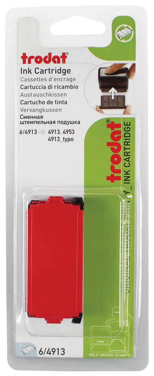Trodat vervangkussen rood, voor stempel 4913, blister met 2 stuks