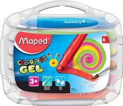 Maped gelkrijt Color'Peps, ophangetui met 6 stuks