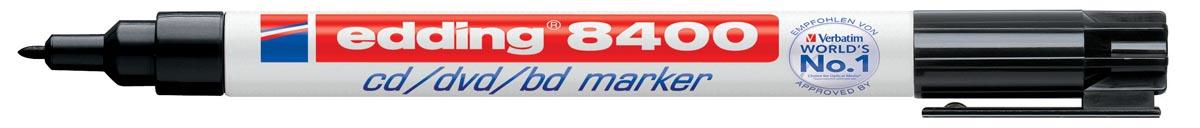 Edding permanent marker voor CD/DVD/BD e-8400 zwart