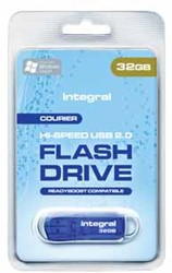 Integral Courier USB 2.0 stick, 32 GB