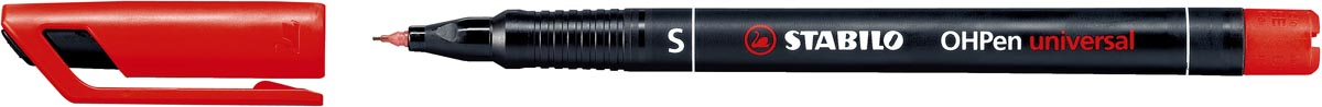 STABILO OHPen universal, OHP-marker, permanent, superfijn 0,4 mm, rood
