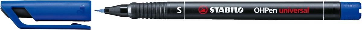 STABILO OHPen universal, OHP-marker, permanent, superfijn 0,4 mm, blauw
