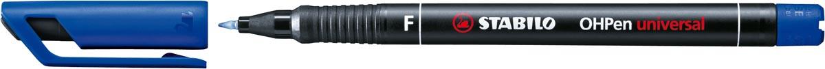 STABILO OHPen universal, OHP-marker, permanent, fijn 0,7 mm, blauw