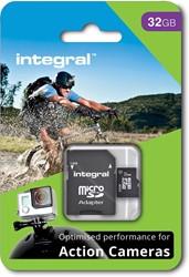 Integral microSDHC geheugenkaart voor actie camera's, klasse 10, 32 GB
