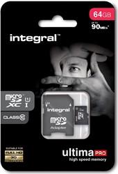 Integral UltimaPro X microSDXC geheugenkaart, klasse 10, 64 GB