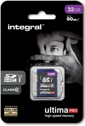 Integral UltimaPro SDHC geheugenkaart, klasse 10, 32 GB