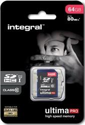 Integral UltimaPro SDXC geheugenkaart, klasse 10, 64 GB