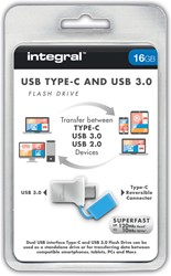 Integral Fusion USB 3.0 stick, 16 GB, zilver