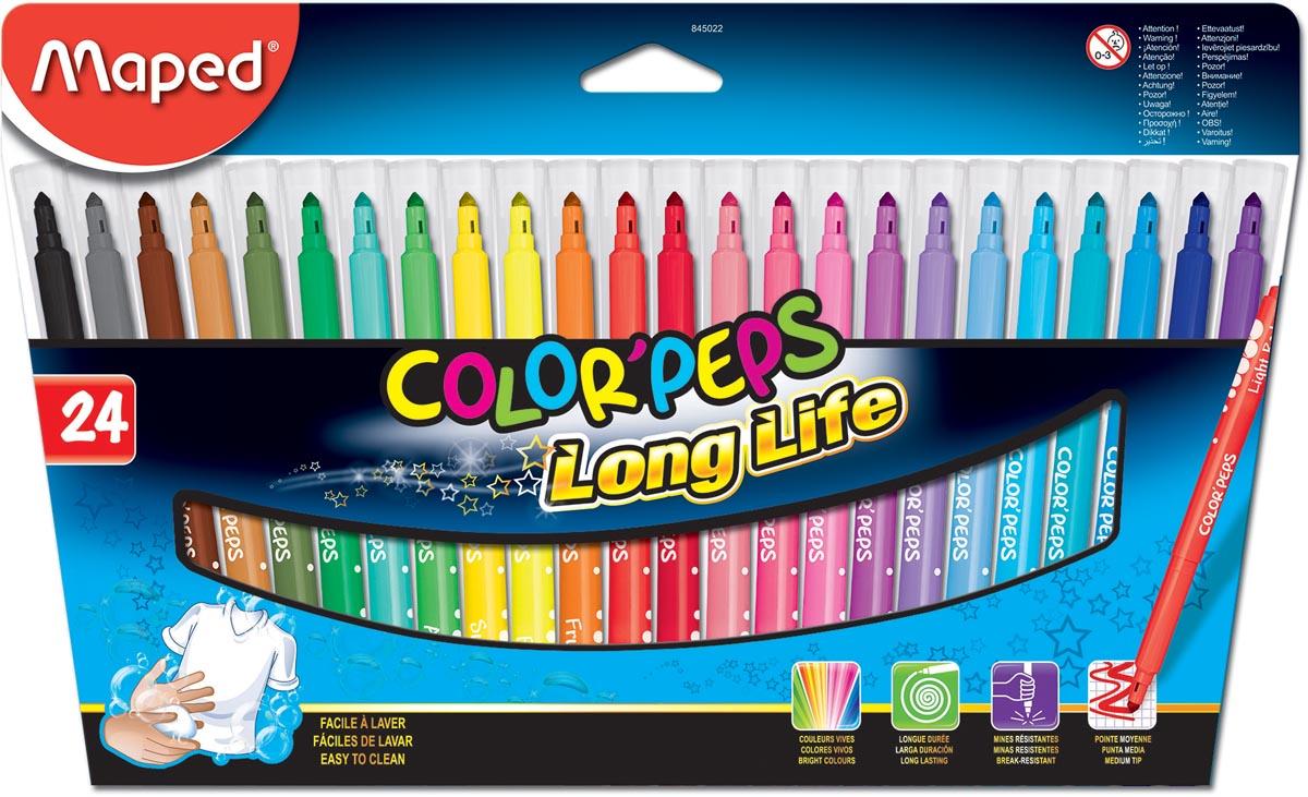 Maped Viltstift Color'Peps 24 stiften in een kartonnen etui
