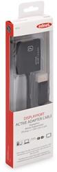 Ednet DisplayPort kabel type DP - DVI-I(Dual Link), 4K, 0,2 meter