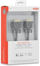 Ednet DVI kabel DVI-D(Dual Link), 2 x ferrit, 2 meter